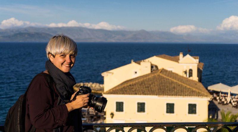Mihaela Noroc in Corfu, Greece