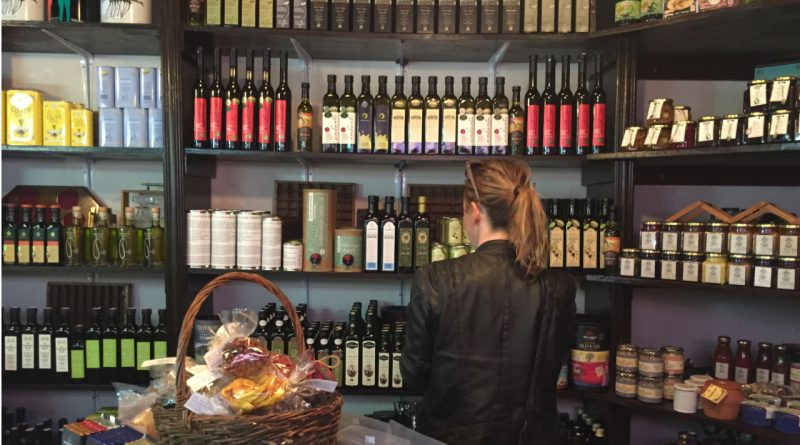 Olive Branch Deli in Cape Town showcases about 40 olive oil producers on its shelves. Credit: Copyright 2016 Ilana Sharlin Stone