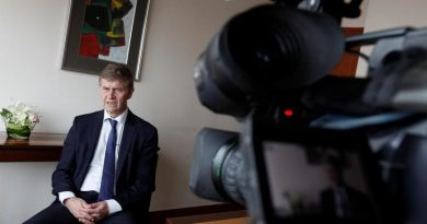 Erik Solheim, executive director of the UN Environment Programme (UNEP), speaks during an interview with Reuters in Jakarta, Indonesia December 14, 2016. REUTERS/Fatima El-Kareem