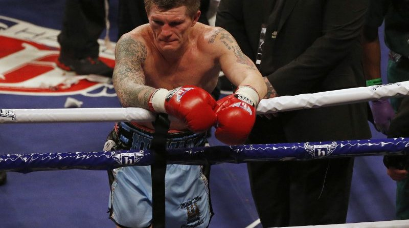 Britain's Ricky Hatton reacts after losing to Ukraine's Vyacheslav Senchenko in their boxing match at the Manchester Arena in Manchester, northern England November 24, 2012. REUTERS/Phil Noble