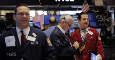 Wall Street falls with financials, other post-election gainers