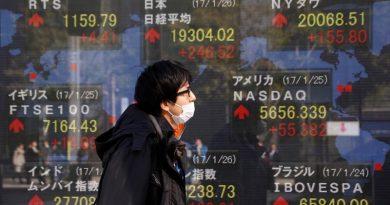 Asian stocks at 1-1/2 year highs on robust Wall Street; dollar retreats