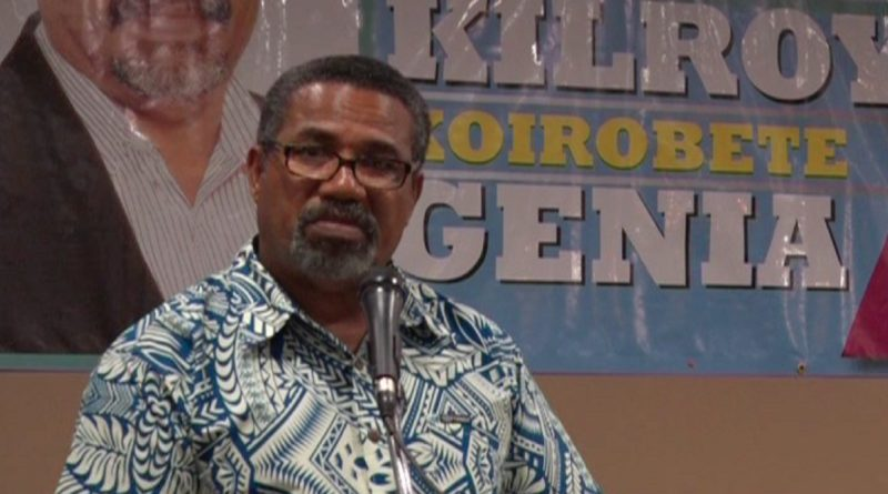 Kilroy Genia Nominated for Abau District Seat