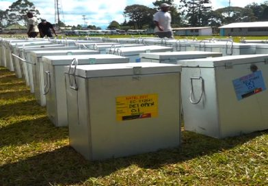 Western Highlands Province Ballot Boxes Labelled