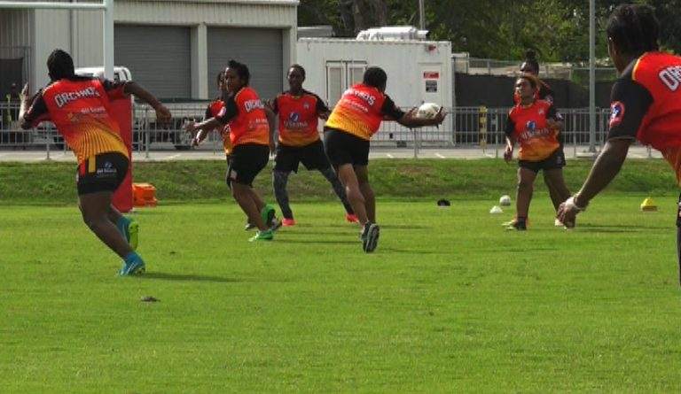 Oil Search PNG Orchids Name Team for Warm Up Match
