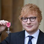 Pop star Ed Sheeran receives honour from Britain's Prince Charles