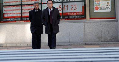 Asian shares dip as commodities ease, bitcoin licks wounds