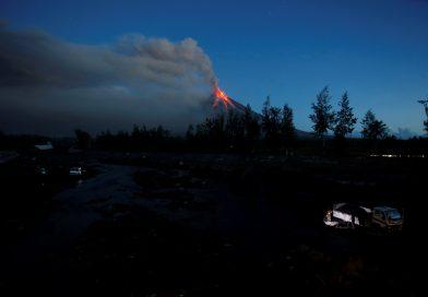 Philippine province halts work, flights amid heavy volcanic ashfall