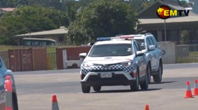 Twelve Brave Police Women Behind Wheels