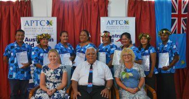 APTC students celebrate success in Tuvalu