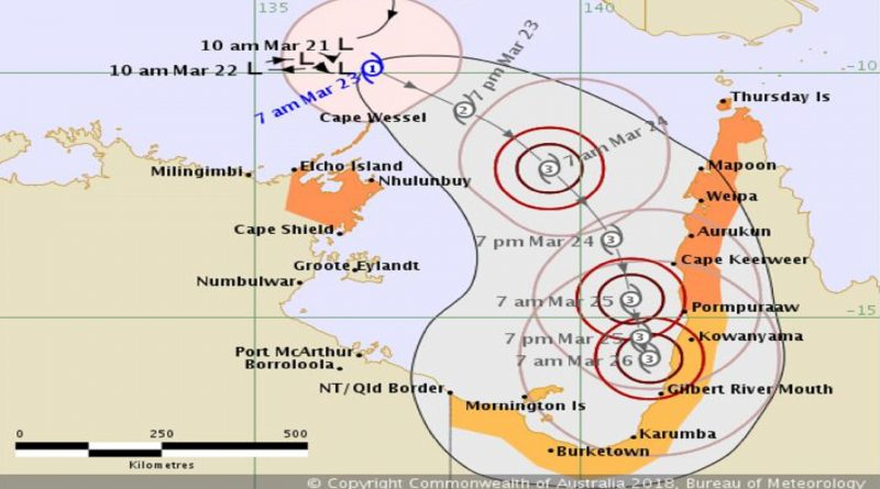 Tropical Cyclone Nora – Category 1: Warnings Issued by National Weather Service